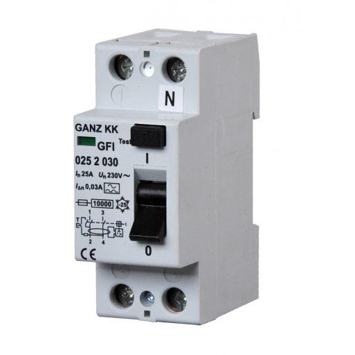 GFI áram-védőkapcsoló 25A 2pól 500mA
