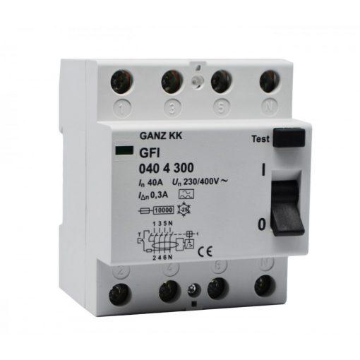 GFI áram-védőkapcsoló 40A 4pól 100mA