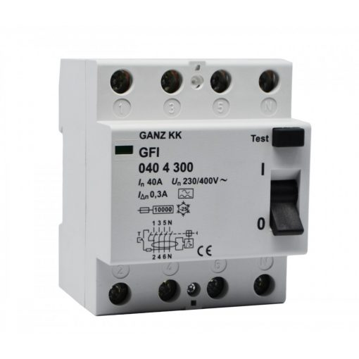 GFI áram-védőkapcsoló 40A 4pól 300mA