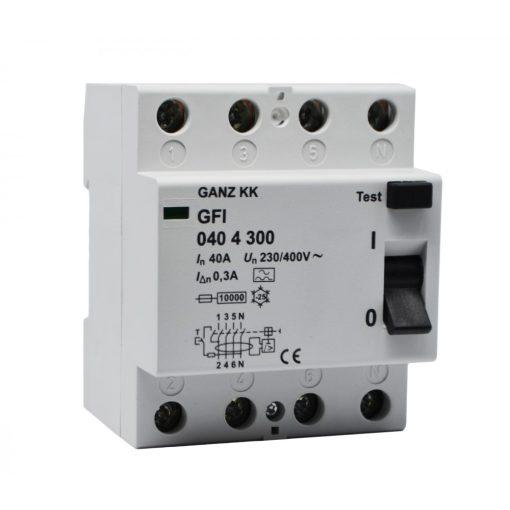 GFI áram-védőkapcsoló 40A 4pól 500mA