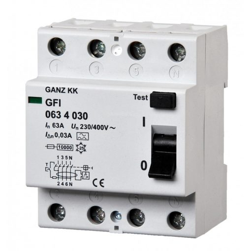 GFI áram-védőkapcsoló 63A 4pól 30mA
