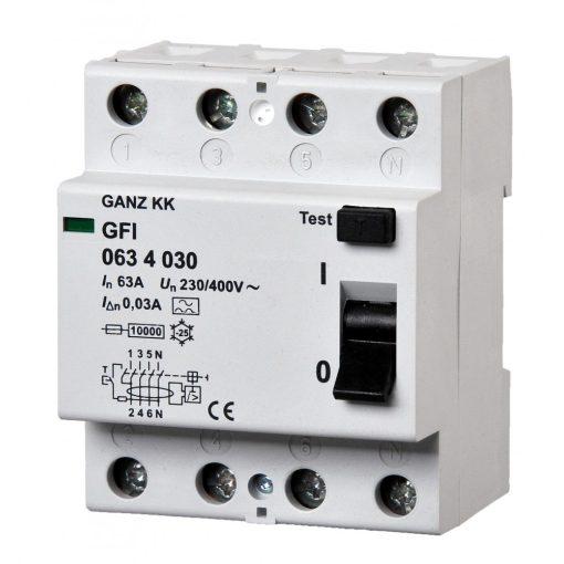 GFI áram-védőkapcsoló 63A 4pól 100mA