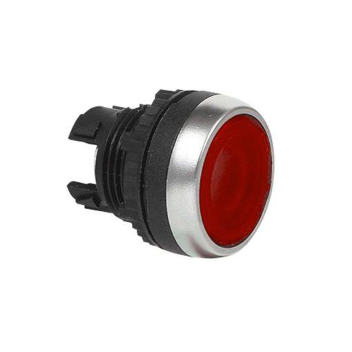 Nyomógomb világító visszaálló piros