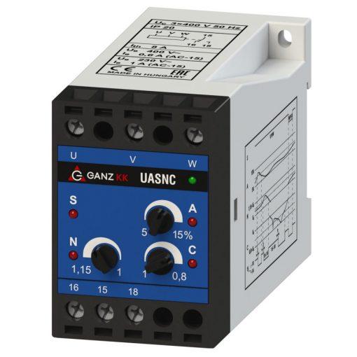 UASNC/3×400 V háromfázisú feszültségrelé