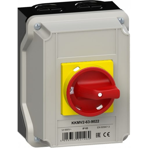 KKMV2-63-9022 vészleállító kézikapcsoló - 6 db-os akciós csomag!