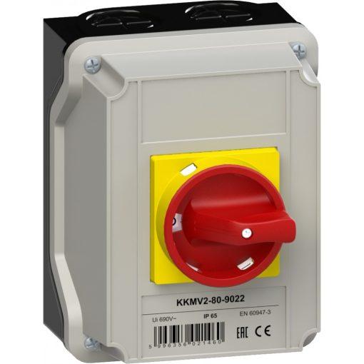KKMV2-80-9022 vészleállító kézikapcsoló - 3 db-os akciós csomag!