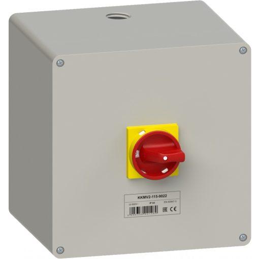 KKMV2-115-9022 vészleállító kézikapcsoló - 3 db-os akciós csomag!